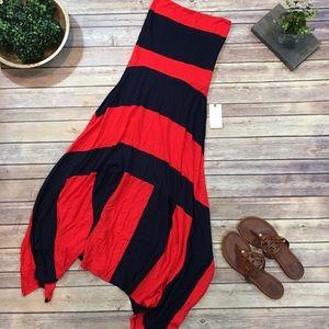NWT Sz Small GAP 4 Way to Wear Striped Maxi Skirt
